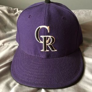 Colorado Rockies hat sz 7 1/8